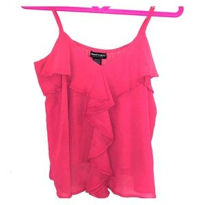 Coral color flowy camisole size large